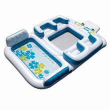 inflatable water island raft, pool island for resting