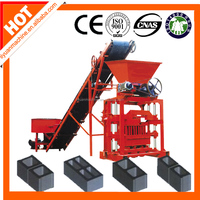 Low cost QTJ4-35 manual brick making machine/small block machine/concrete hollow block machine with low price