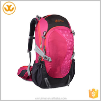 Mountaintop multi-functional 30L outdoor sprts durable waterproof pink hiking backpack