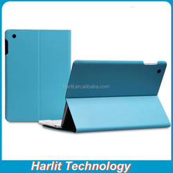 Leather Cover Case For iPad 4 Blue Color , Folio Leather Case For iPad 4, Leather Case 9.7 inch