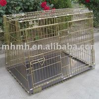 """36"""" Two Door Folding Metal Dog Crate Cage Kennel with Divider"""