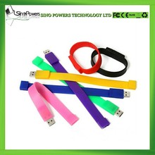 Promotional Gift Silicon Wristband Cheap Bracelet 8GB USB Flash Drive