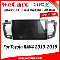 Wecaro Android 4.4.4 car stereo 1024 * 600 for toyota rav4 radio 1.6 ghz cpu 2013 - 2015