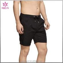 High Quality Black Mens Gym Clothing Drawstring Cotton Gym Shorts Wholesale