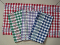 gaoyang yarn dyed cheap wholesale easy cleaning cotton kitchen towel