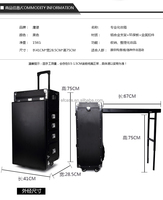 BEAUTY CASE WITH TABLE AND TROLLEY/NAIL WORKING BLACK CASES