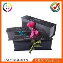 Series popular ribbon closure design custom box packaging for export