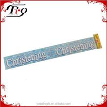 party favors blue baby boy's Christening laser foil banner