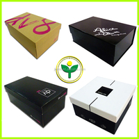 fashion wholesale custom drop front shoe box labels template