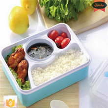 plastic lunch boxes factory Wholesale PP Plastic 3 in 1 food storage rectangle airtight plastic lunch box