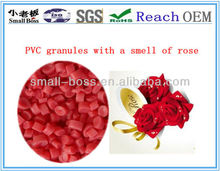 2015 the first kind of flower and fruit smell soft PVC compound for SHOES