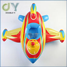 Custom top quality hot selling inflatable buoy duck ring Baby seat rider inflatable water ride kids rider
