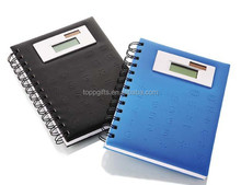 Promotional pu innovative school stationery with 8 digital calculator