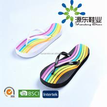 2015 China PVC ladies flip flop Cheap silk printing safe women rubber slipper