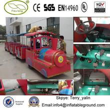 Colorful trackless train amusement train for sale