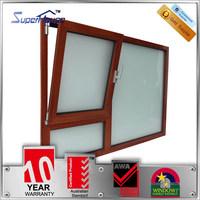 Australia standard custom modern design aluminum tilt and turn hinge window with German hardware