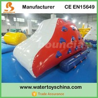 Inflatable Water Climbing Wall With 2 Sides Sliding Used In Lake Or Pool