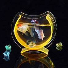 Wholesale table mini aquarium toy for decoration