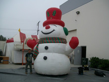 outdoor Christmas decoration giant inflatable snowman with blower