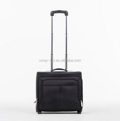 Black nylon carry-on luggage,trolley luggage
