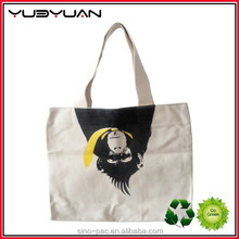 2015 China dump heavy duty custom digital printed shopping bags cotton canvas tote bag leather handle