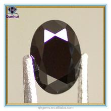 2014 Hot Sale Oval Cut Black Cubic Zirconia Loose Stone