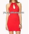 hueco sin respaldo a cabo rojo vestido vestido de noche para la venta en fábrica