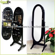 Wooden fashion full body jewelry cabinet mirrors