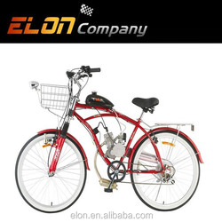 electric motorcycle with front disk brake Rear V-brake (E-GS104 red)