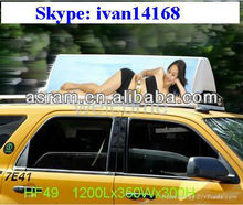 Asram Shenzhen LED P6 LED Digital Full Color 3G GPS Worldwide Quality Taxi Top Advertising