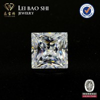 AAA grade white square pricess pointed cut faceted gem stone