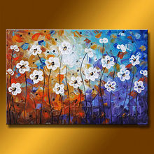 Newest Handmade Simple Abstract Flower Oil Painting For Decor