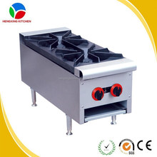 Restaurant Equipment Table-top Double Burner Gas Stove