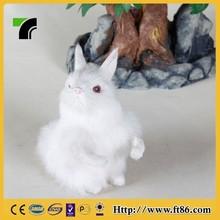 Factory wholesale furry animal figurine rabbit toys