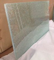 Ice cracked glass/safety laminated glass