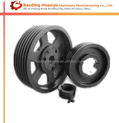 OEM cast iron fixed drive machinery pulley wheel parts for sales