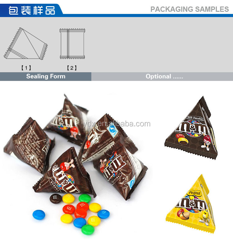 3 Fivestar BT-8250DN-N10 MARS MMs chocolate bean candy pyramids pyramidal packaging machine