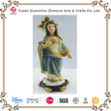 2015 wholesale religious resin mary figurine