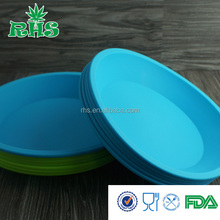RHS factory colored mixing bowls silicone collapsible bowl for camping