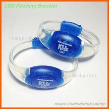 Pad Printed Motion Sensor LED Plastic Wristband Bracelets