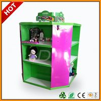 small toy car cardboard counter display with hooks ,sleeping cat toy ,six shelf 'a' frame video game floor