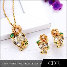 2014 wholesale crystal jewelry costume jewelry sets