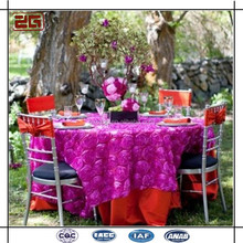 tablecloth wedding rosette round decorative table cover
