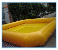 Factory price inflatable yellow pool,giant inflatable water pool for kids and adult,cheap inflatable swimming pool for rental