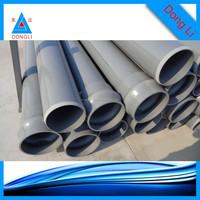 """UPVC drainage pipe 8"""" drainage pipe plastic drainage channel"""