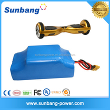 High power Durable 10s2p 4400mah branded battery 36v lithium battery pack for electric scooter