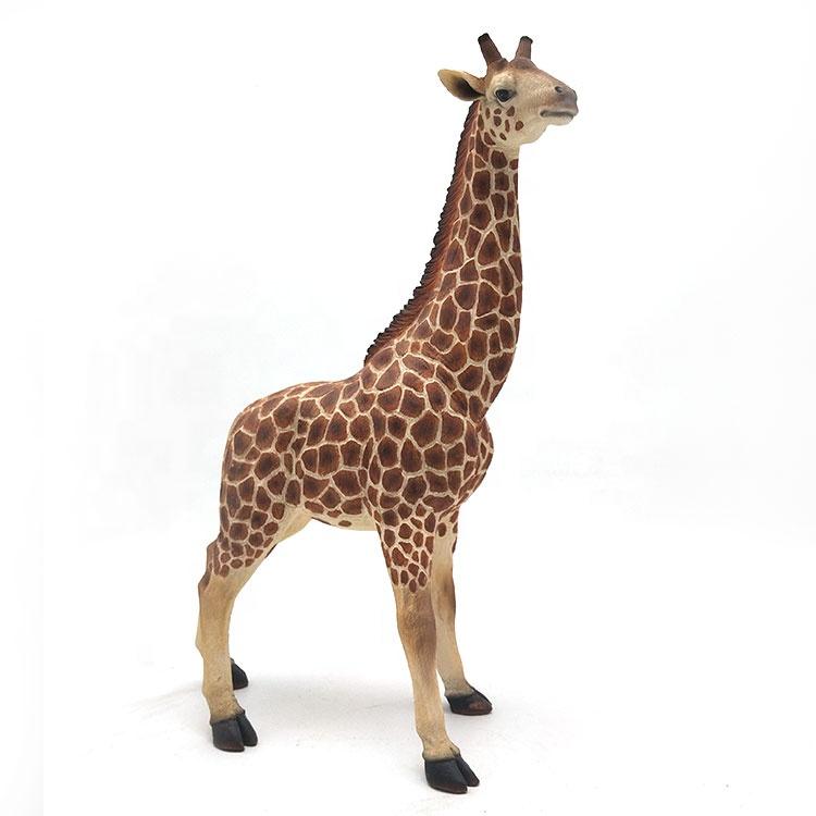 を庭の装飾動物レジンコクピット大装飾キリン彫像販売
