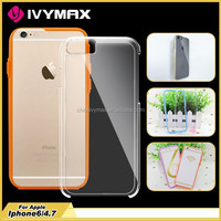 Transparent clear hard PC+TPU crystal case for iphone 6s bumper case