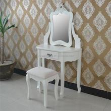 Vintage trade delicate vanity dressing table with stool dresser for bedroom furniture