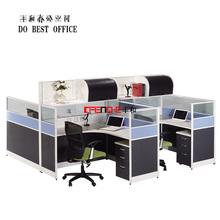 High End Design 4 Person Office Desk Office Workstation